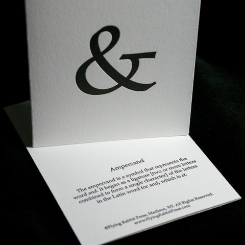 Punctuation: Ampersand Letterpress Card