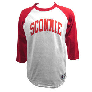 Sconnie 3/4 Sleeve Baseball Tee Red/White [Mens/Unisex]
