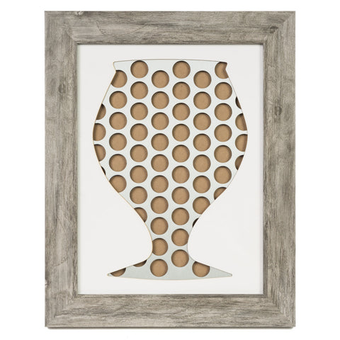 Snifter Framed Beer Cap Art