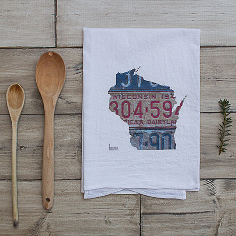 Wisconsin Home Tea Towel