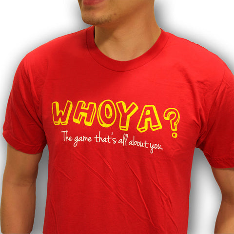 Whoya? The Game Mens/Unisex T-Shirt Red