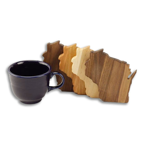 Wisconsin State Coasters [Set of 4]