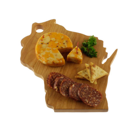 Wisconsin Solid Cherry Wood Cheese Cutting Board