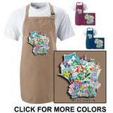 Wisconsin Wildflowers Apron
