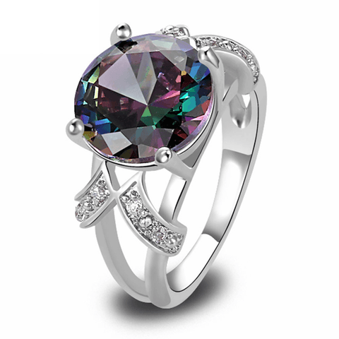 1438663314 - Mystic Rainbow Multi-Color Topaz Ring