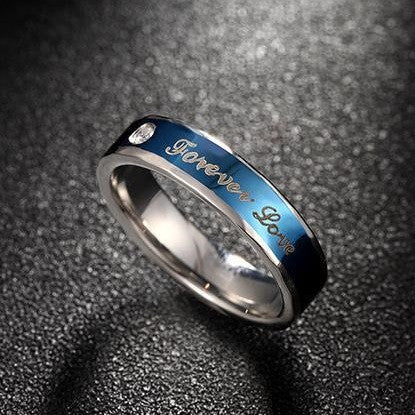 "Stainless Steel ""Forever Love"" Couple Ring"