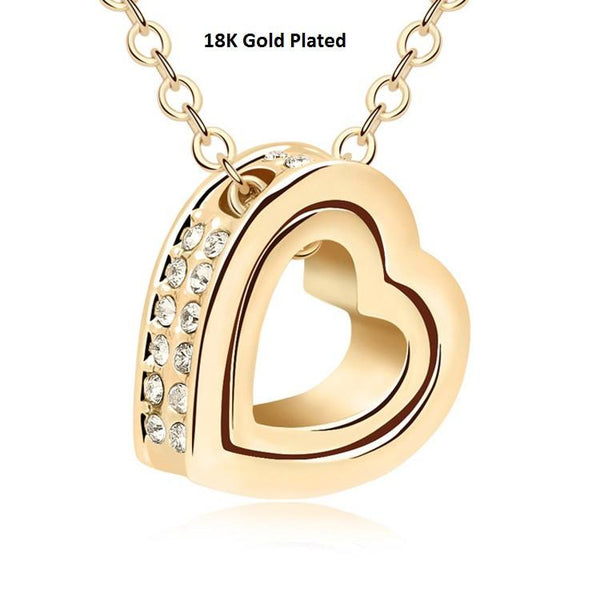 32267016026 - Heart In Heart Crystal Pendant Necklace