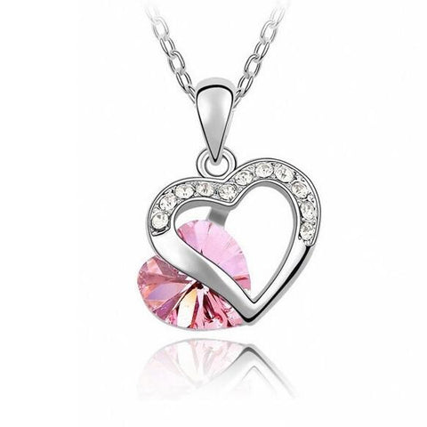 32354546887 - Heart Charm Pendant Necklace