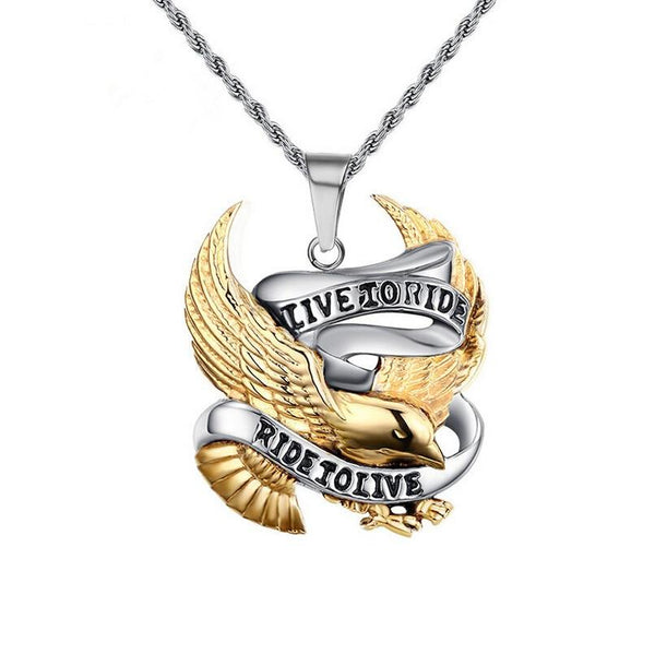 32556072537 - Live To Ride, Ride To Live Pendant Necklace