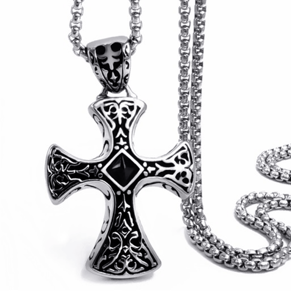 32721927933 - Stainless Steel Celtic Cross Pendant Necklace