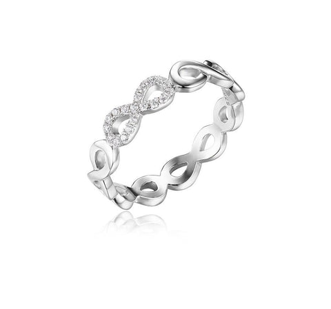 32760488053 - 925 Sterling Silver Infinity Forever Promise Ring