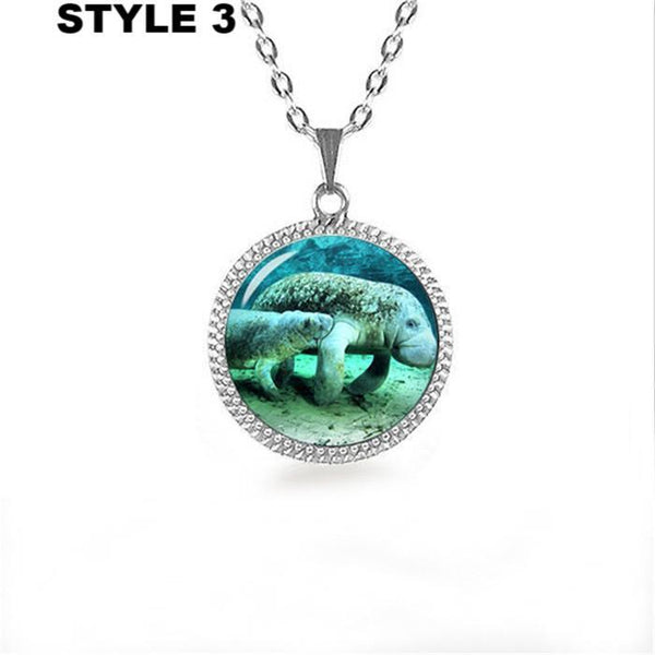 32796449062 - Manatee Cabochon Pendant Necklace