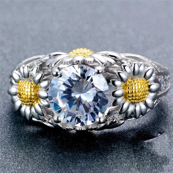 32837040920 - Sparkling Sunflower Ring