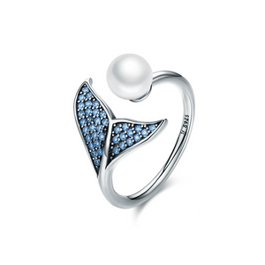 32859388168 - 925 Sterling Silver Mermaid Tail Ring