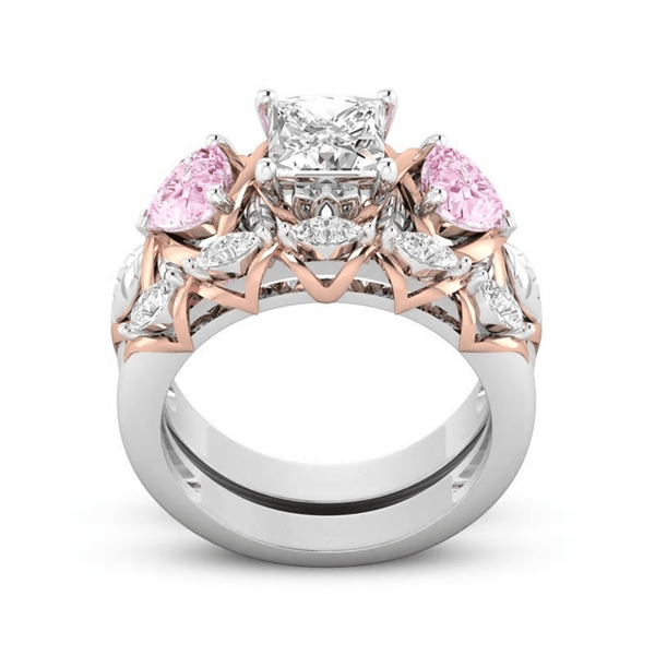 32862389887 - Pink Heart Two Piece Promise Ring