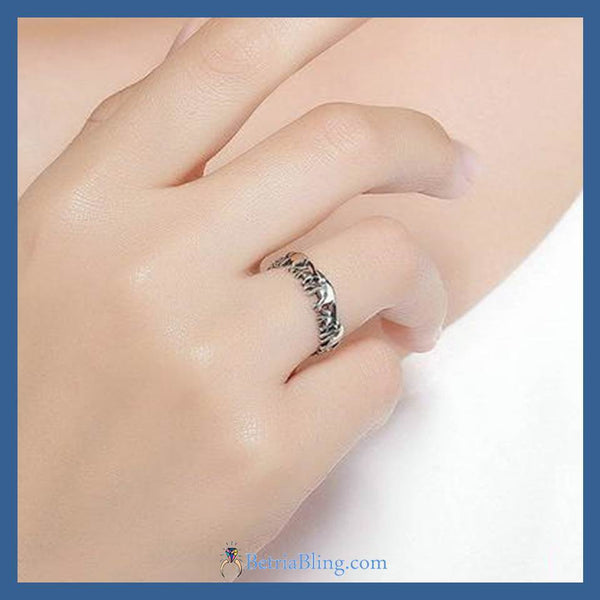 32871922862 - 925 Sterling Silver Elephant Ring