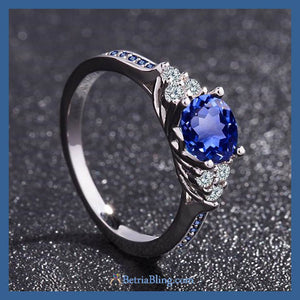 32899543991 - 925 Sterling Silver Blue Angel Ring