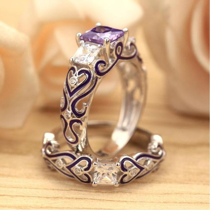 32946746215 - 925 Sterling Silver Passion And Romance Two Piece Promise Ring