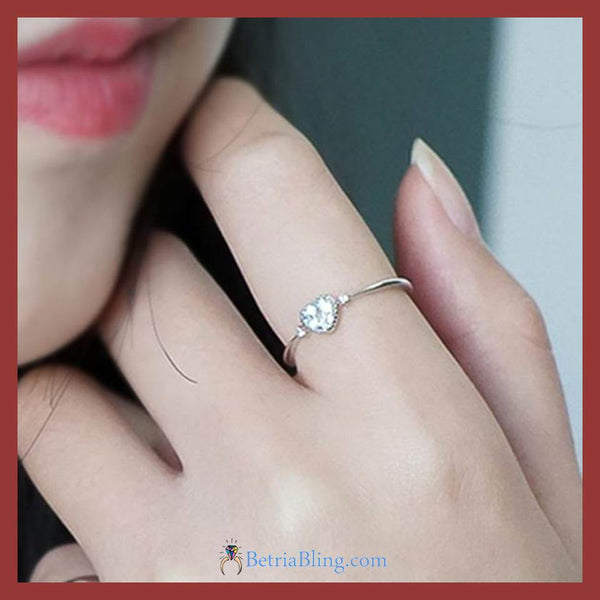 32954211789 - 925 Sterling Silver Bright Heart Ring