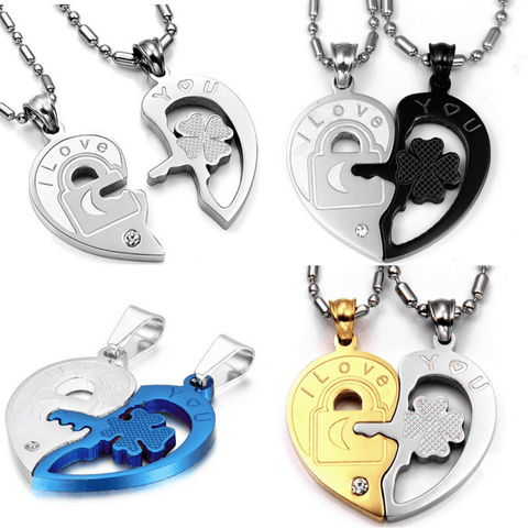 941861077 - Couples Heart Necklace