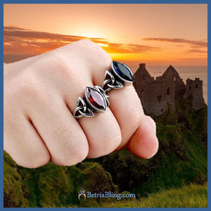 Colorful Celtic Knot Ring