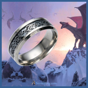 Stainless Steel Celtic Dragon Ring