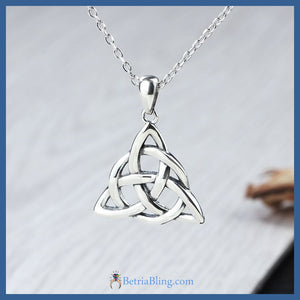 925 Sterling Silver Celtic Trinity Knot Necklace