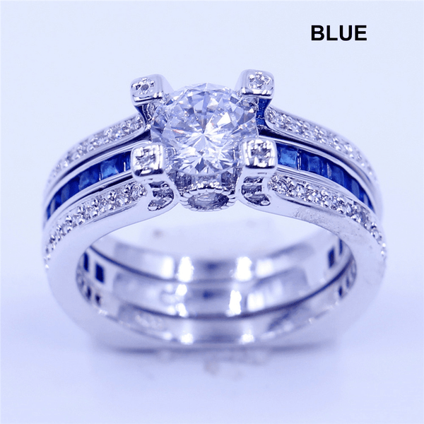 Blue 32737970774 Green 32737962774 - Love Forever Two Piece Promise Ring