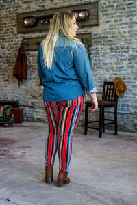 Striped Serape Ladies Jeans