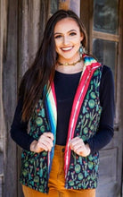 Load image into Gallery viewer, Reversible Serape & Cactus Hooded Vest