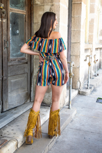 Load image into Gallery viewer, Black Aztec Serape Romper
