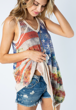 Load image into Gallery viewer, Flag Tank Top w/ Stones