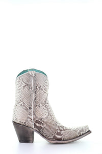 Ladies Natural Python Zipper Ankle Boot by Corral
