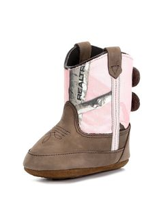 Old West Infant Pink/Camo Poppet Boot