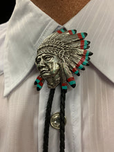 Load image into Gallery viewer, Indian Headdress Bolo Tie