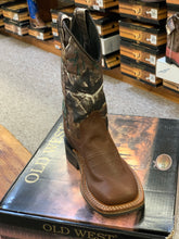 Load image into Gallery viewer, Children's Old West Square Toe Camo Boot