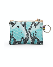 Load image into Gallery viewer, Carmen Turquoise Snake Pouch