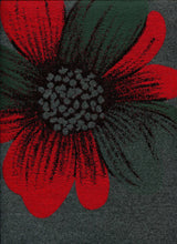 Load image into Gallery viewer, Gray & Red Daisy Reversible Wrap-Artisan Shawl