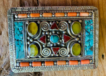 Load image into Gallery viewer, Tibetan Genuine Stones Belt Buckle, Unisex