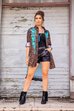 Load image into Gallery viewer, Leopard Cardigan with Turquoise