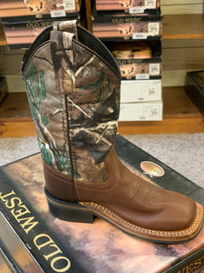 Children's Old West Square Toe Camo Boot
