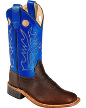 Load image into Gallery viewer, Children's Old West Blue/Brown Cowboys Boots
