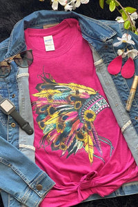 Indian Sunflower Fuchsia T-Shirt