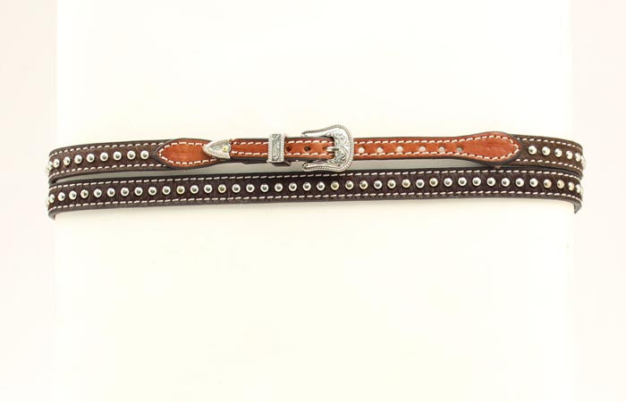 Brown Horse Hair Hat Band with studs