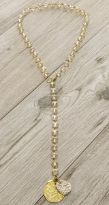 Cymbal Crystal Necklace