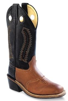Children's Old West Black/Tan Boots