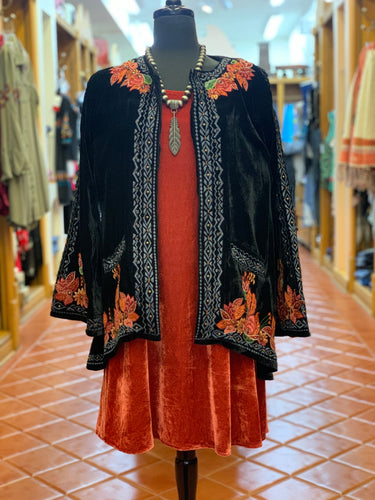 Velvet Embroidered Jacket by Vintage Collection