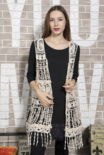 Load image into Gallery viewer, Floral Pattern Crochet Vest.