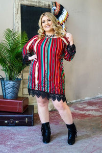 Serape Stripe Dress