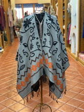Load image into Gallery viewer, Gray & Black Reversible Wrap-Artisan Shawl